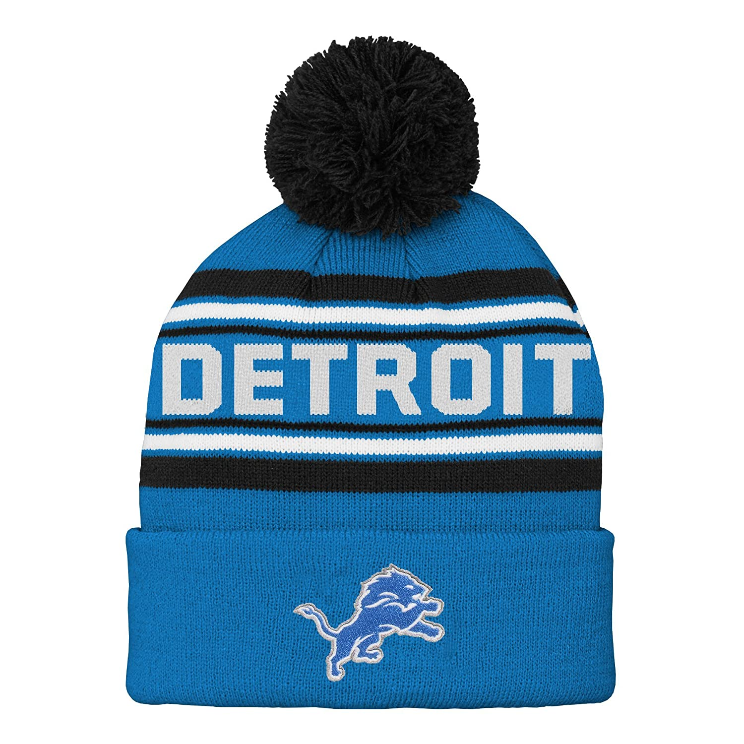 Team Color NFL Detroit Lions Youth Outerstuff Structured Adjustable Hat Youth One Size