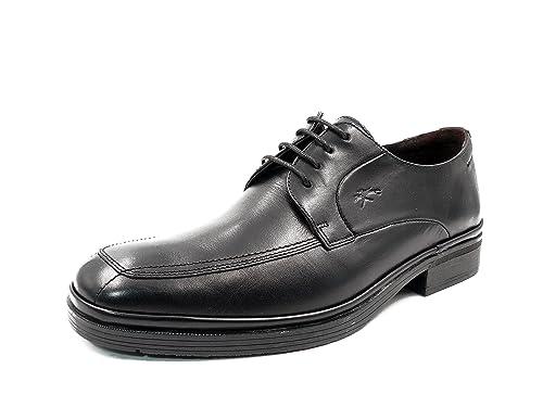 Zapatos hombre para vestir con cordones FLUCHOS - Piel color negro - 7350 - 46 (