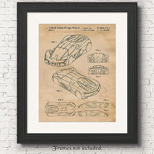 Amazon Com Original Lamborghini Terzo Millennio Patent Poster Print