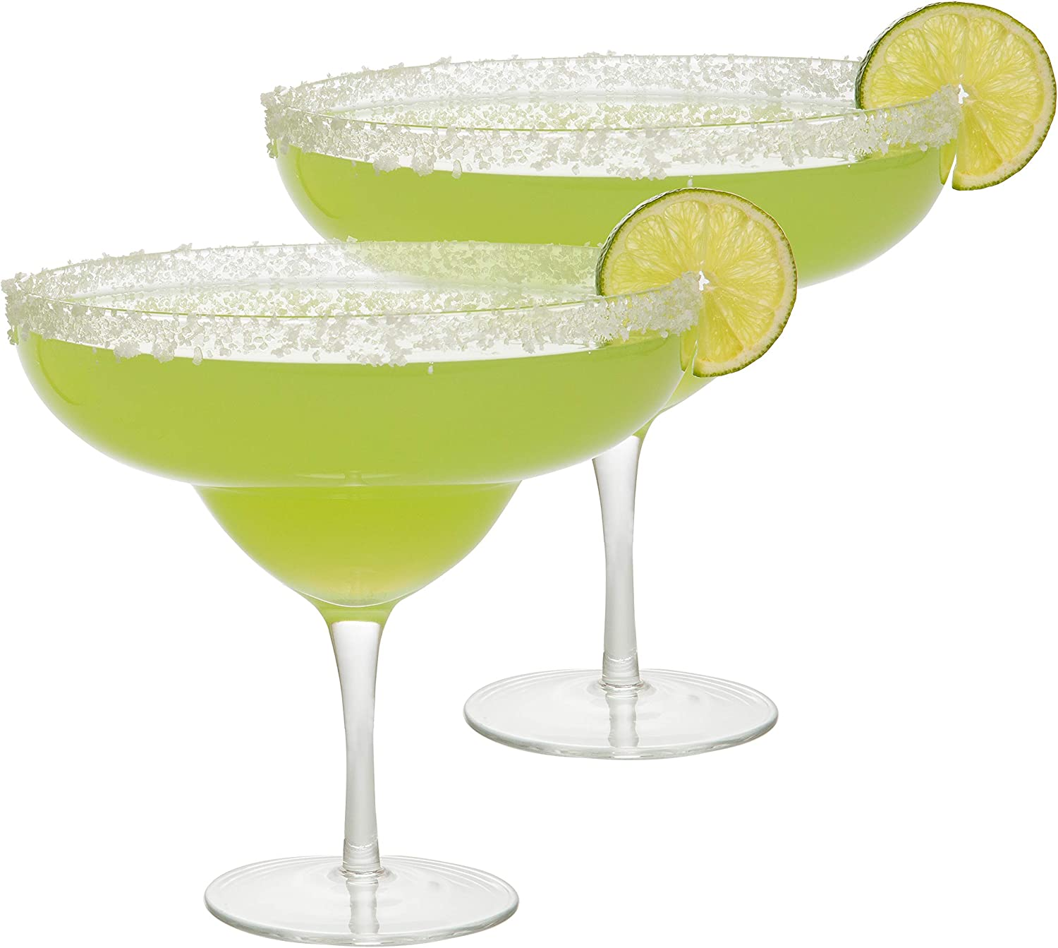 Extra Large Giant Margarita Glasses 2 pack - 34oz per glass - Each fits about 3 typical margaritas!