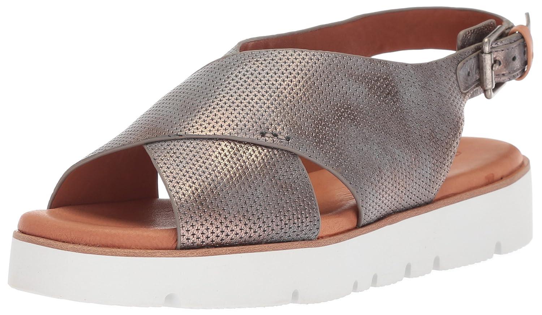 Gentle Souls Women's Kiki Platform Slingback Flat Sandal B078FN6WBL 10 M US|Pewter