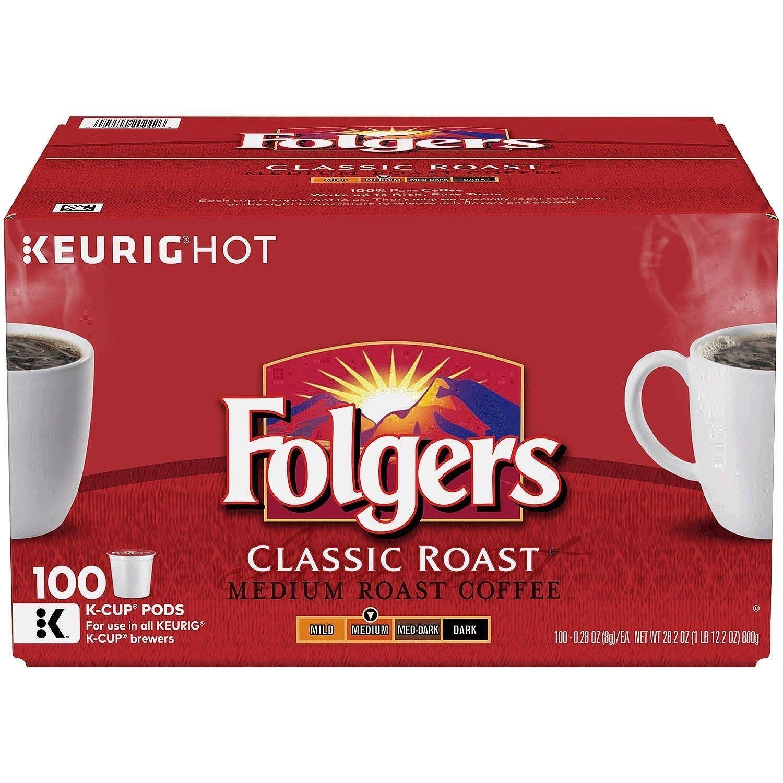 Folgers Classic Roast Coffee (100 K-Cups)