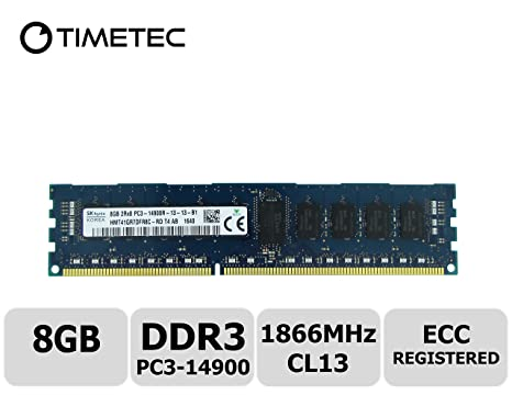 Timetec Hynix 8GB DDR3 1866MHz PC3-14900 Registered ECC 1.5V CL13 2Rx8 Dual Rank 240 Pin RDIMM Server Memory Ram Module Upgrade Upgrade (Server Only, Not for Desktop/Laptop) (8GB) Components at amazon