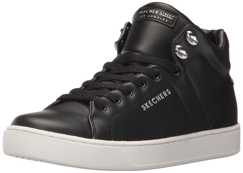 Skechers Women's Prima-Leather Laces Fashion Sneaker B06Y5ZXW9W 6.5 B(M) US|Black