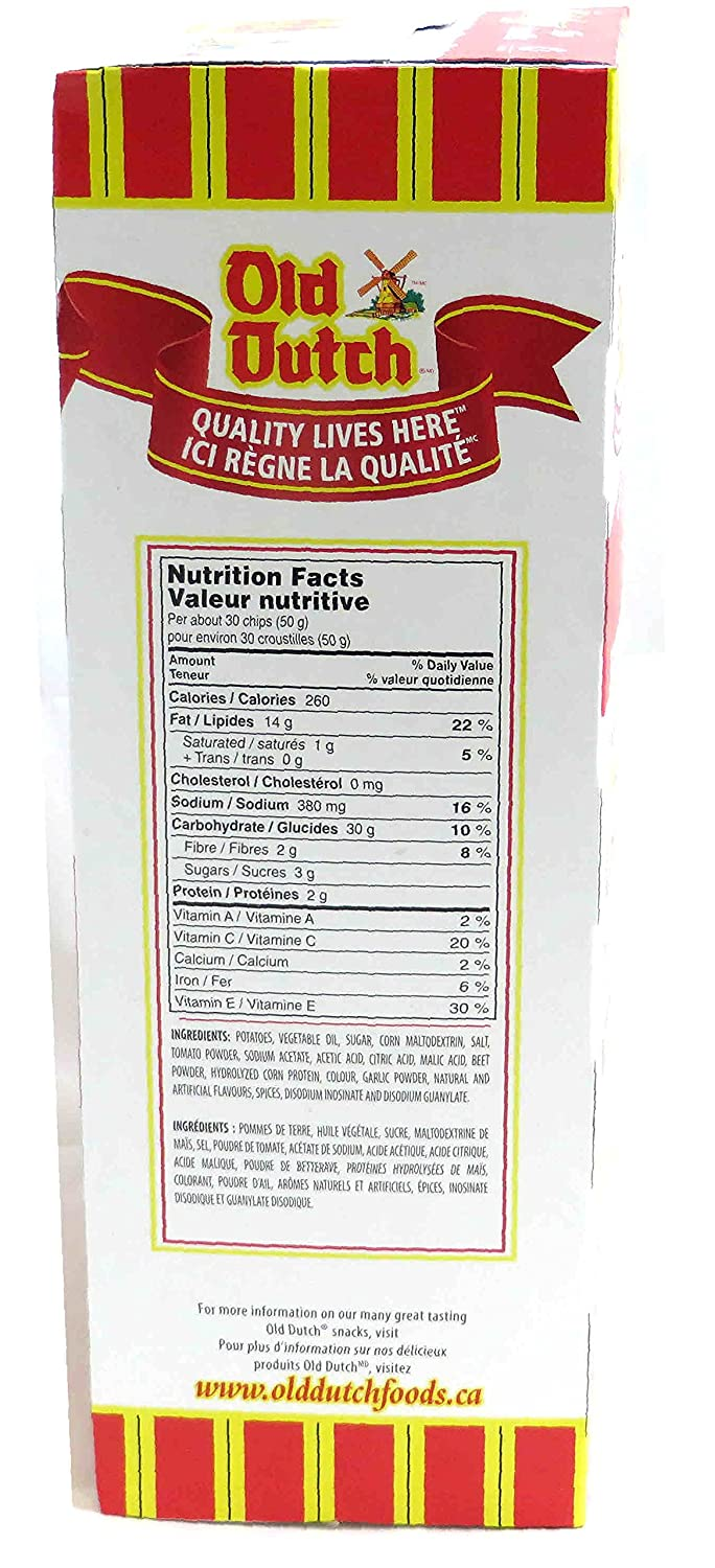 Old Dutch Chips Nutrition Facts - Nutrition Ftempo