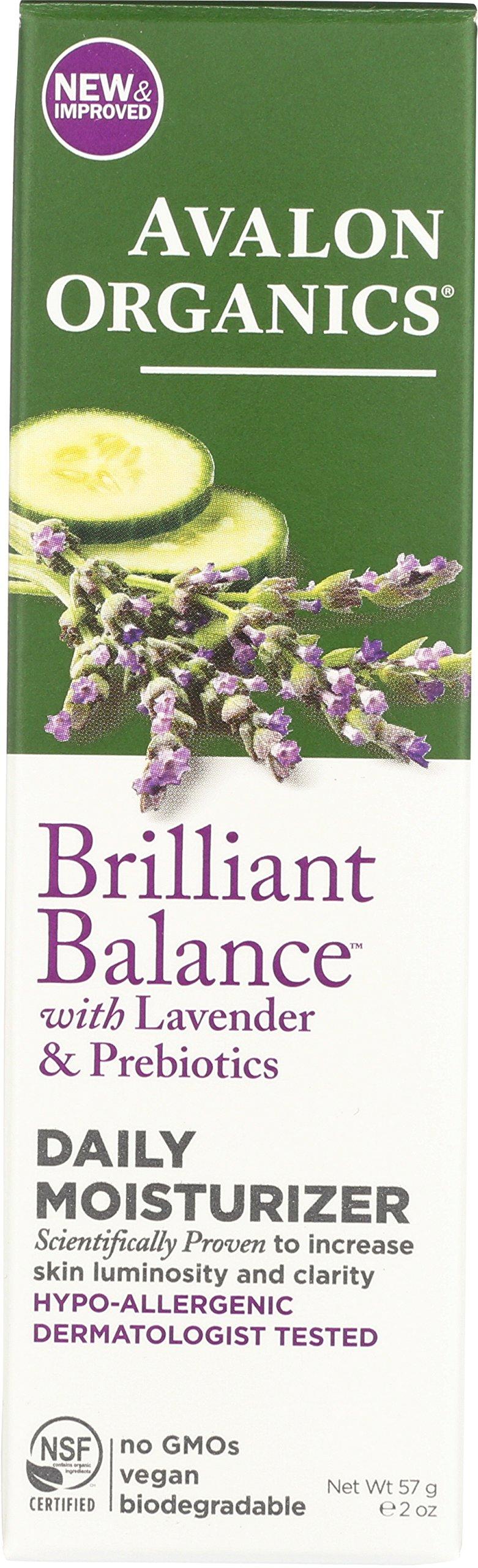 Avalon Organics Brilliant Balance with Lavender & Prebiotics Daily Moisturizer 2 oz