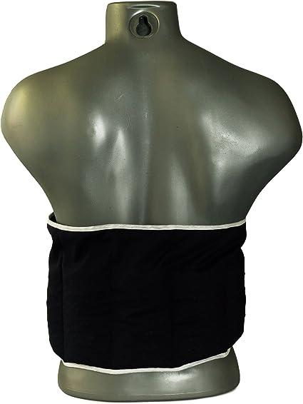 Bleu clair Coussin-ceinture aux graines de lin /à sept compartiments avec fermeture velcro longueur environ 135cm Coussin thermique en graines XXL