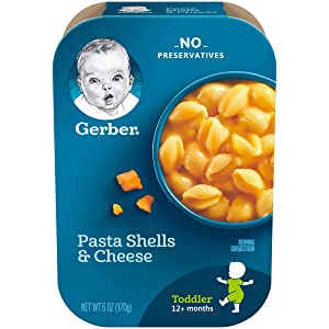 Gerber Pasta Shells & Cheese, 6 Ounce (Pack of 6)