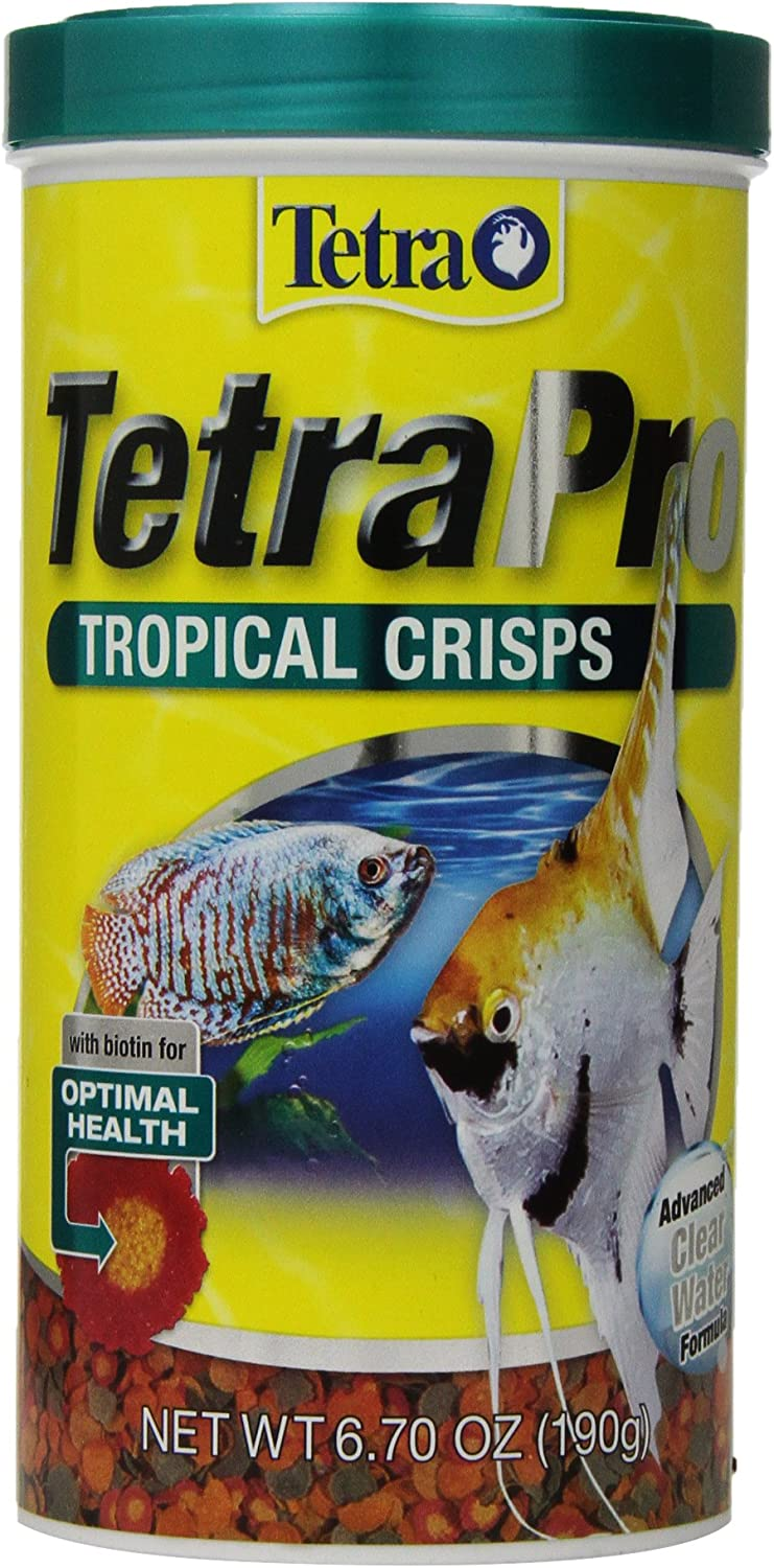 TetraPro Tropical Crisps 6.70 Ounces, Fish Food, Advanced Clear Water Formula