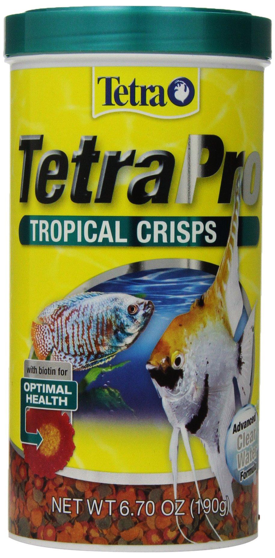 TetraPro Tropical Crisps 6.70 Ounces, Fish Food, Advanced Clear Water Formula