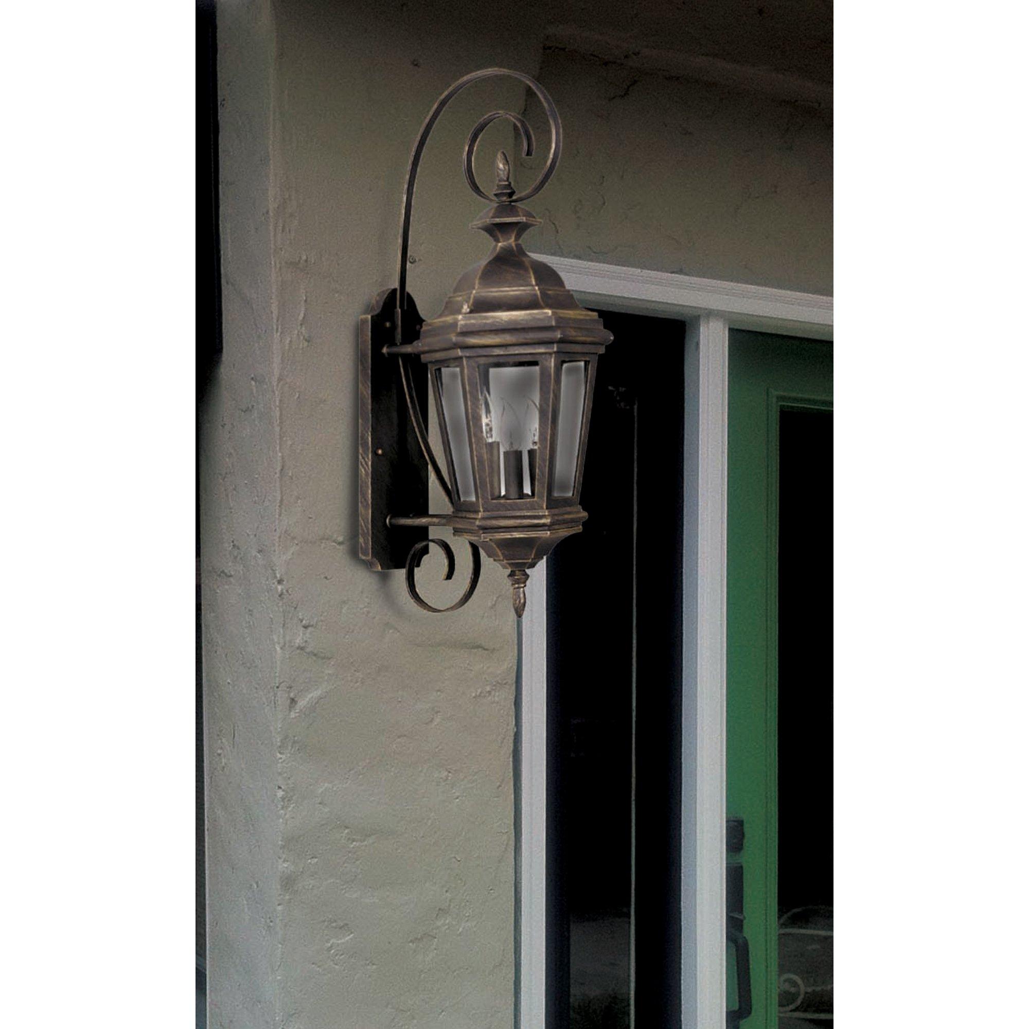 Kenroy Home 16313AP Estate 3-Light Medium Wall Lantern, Antique Patina