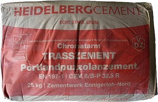 Heidelberger Portland Kalkstein Trasszement 25 Kg Sack Made in Germany