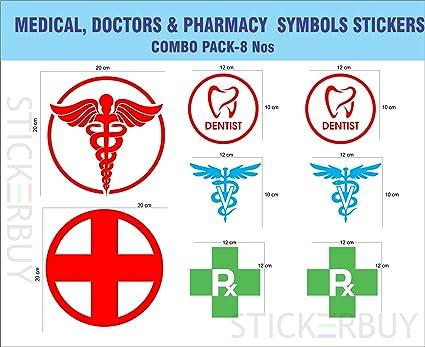 Stickerbuy Medical Doctor Veterinary Doctor Dentist Pharmacy Symbols
