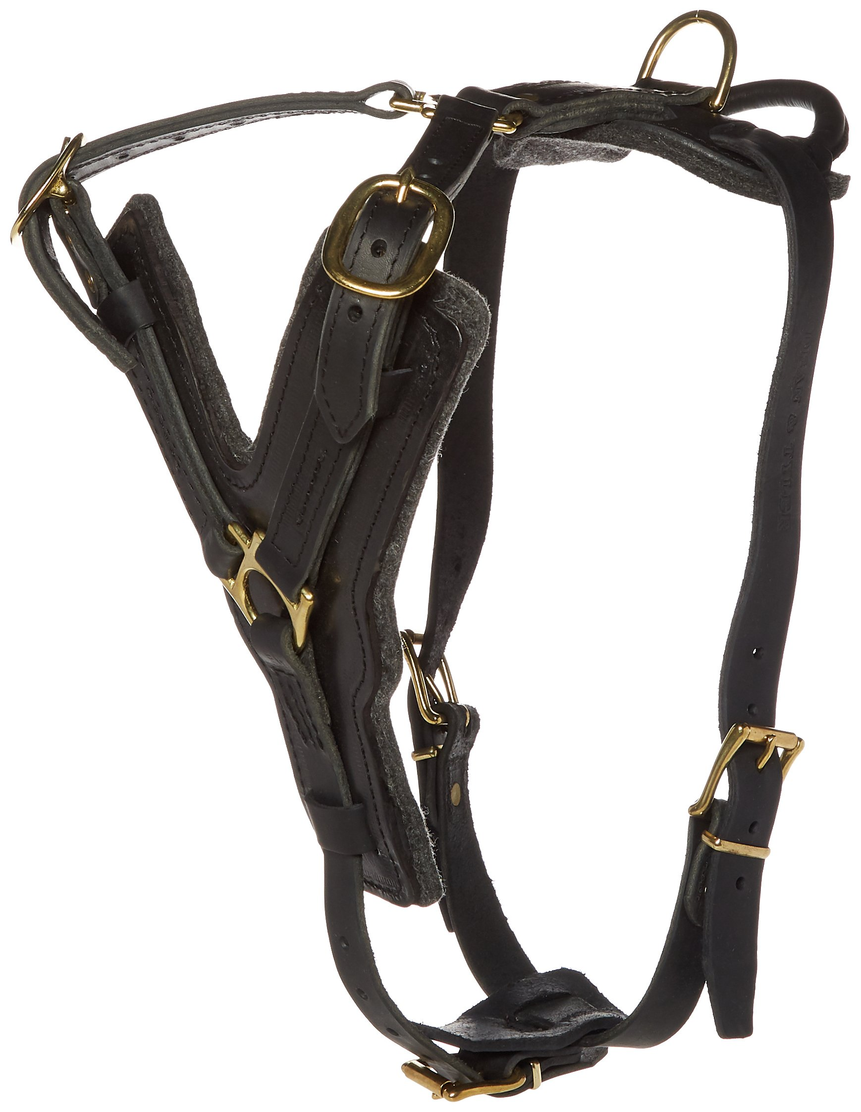 Dean and Tyler The Victory with Handle Leather Dog Harness, Black, Large - Fits Girth Size: 31-Inch to 41-Inch