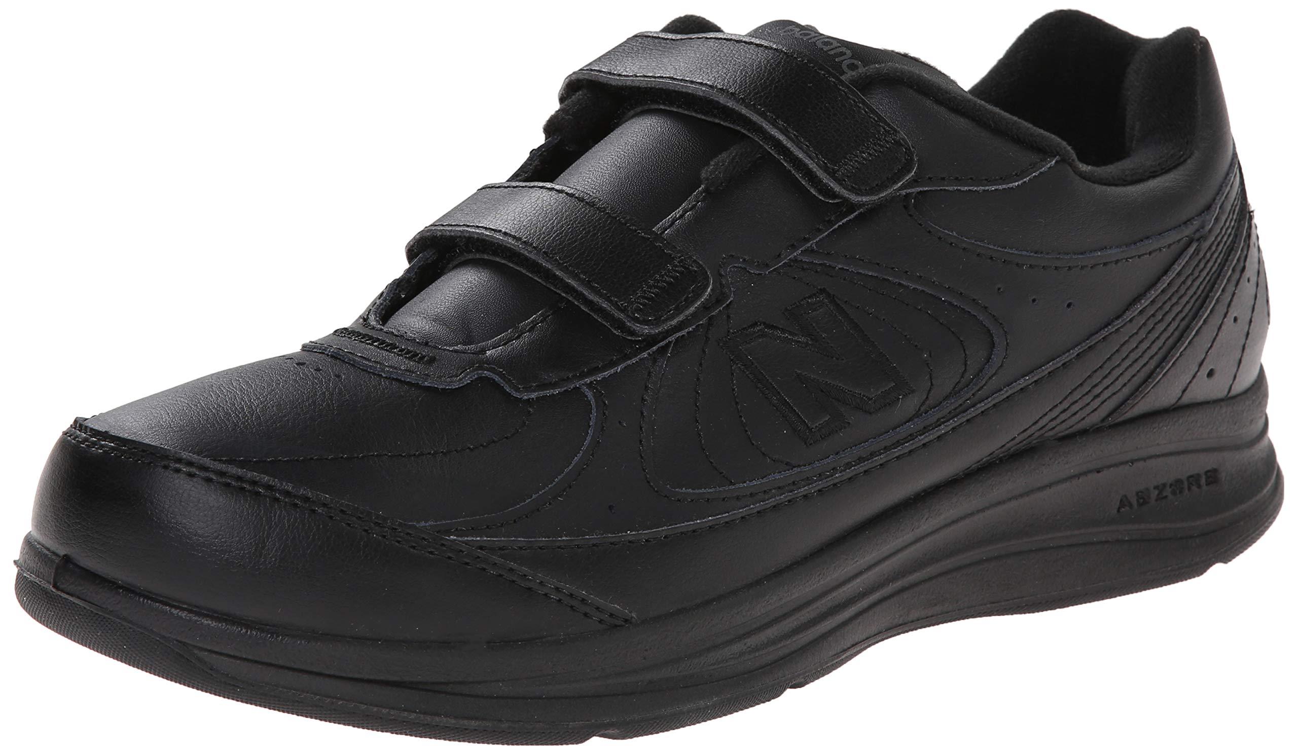 New Balance Men's MW577 Hook and Loop Walking Shoe, Black, 10.5 2E US