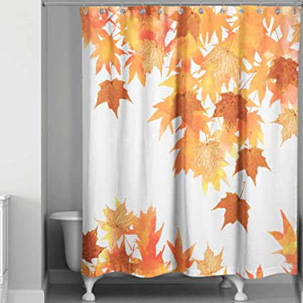 Amazon Shower Curtain Machine Wash And Dry In Autumn Leaves