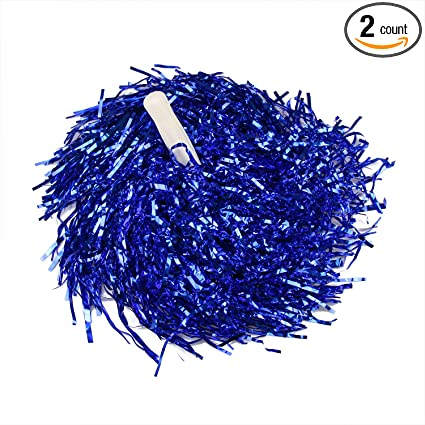 0.04 LB//Pieces H:oter 1 Pair Holes Handle Cheerleading Pom Poms Party Costume Accessory Sports Set