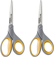 Westcott Straight Titanium Scissors with New Handle Design, 8 Inch, 2-Pack