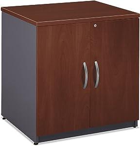 Two Door Storage Cabinet Hansen Cherry/Graphite Gray