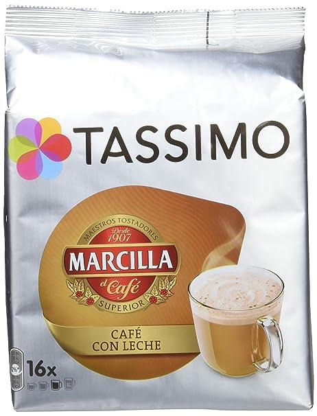 Tassimo Café Marcilla Café con Leche - 16 Cápsulas: Amazon.es ...