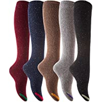 Lovely Annie Women's 5 Pairs Pack Knee High Cotton Socks Size 23-25cm (5 Color)
