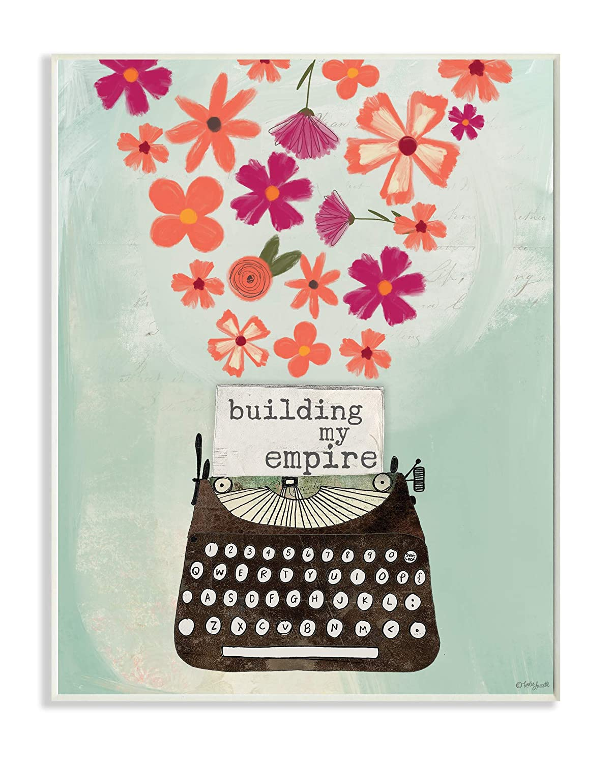 Amazon com: The Stupell Home Decor Building My Empire Pink and