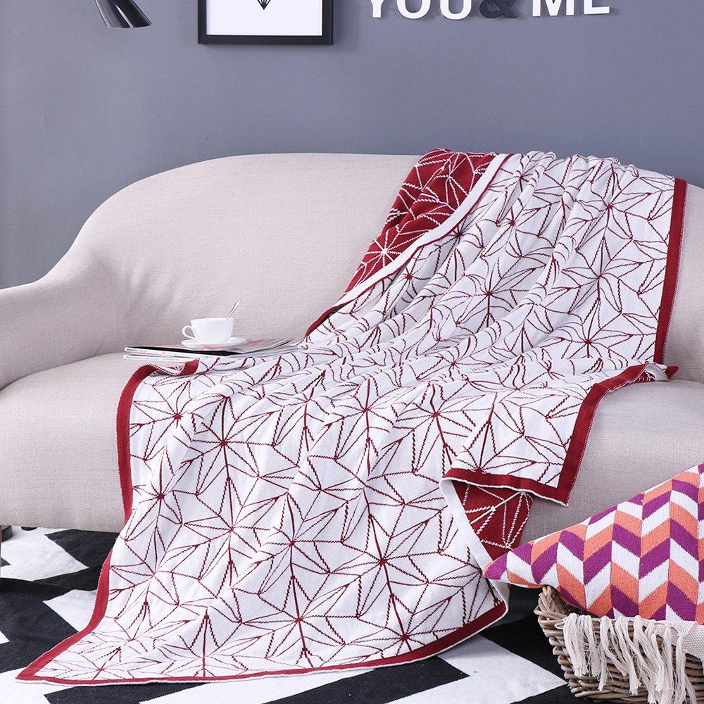 Oroa Burdeos manta, Super suave manta de cama decorativo ...