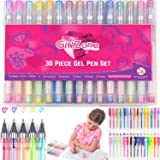 GEL PENS GIFTS FOR GIRLS: 30 Pieces, Ideal Arts & Crafts Gift For Kids, Creative Coloring Pens for Kids, Girls & Teens. Great Birthday Gifts Present For Girls Age 3 4 5 6 7 8 9 10 years old.