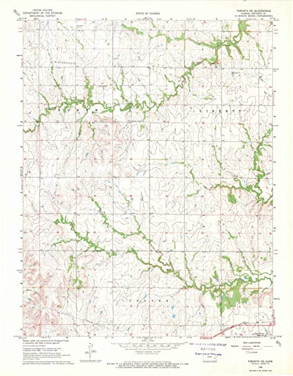 Amazon Com Kansas Maps 1968 Toronto Ks Usgs Historical