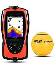 LUCKY Ecosondeur Sondeur Pêche De Poisson Rechargeable Wireless Fish Finder High Definition LCD Depth Finder