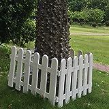 hineway Nursery recinzione da giardino albero di Natale Decor parete Staccionate Recinzioni 48,3x 27,9cm PVC bianco 4