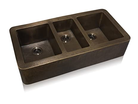 Lenova CA-133 Copper Apron Front Under-Mount Kitchen Sink, Oil ...