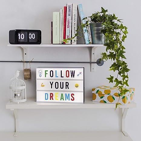 Caja de Luz LED A4 con 300 Letras, Divertidos Emojis y 2 ...