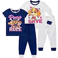 Paw Patrol Pijamas de Manga Corta para niñas Paquete de 2 La Patrulla Canina Ajuste Ceñido