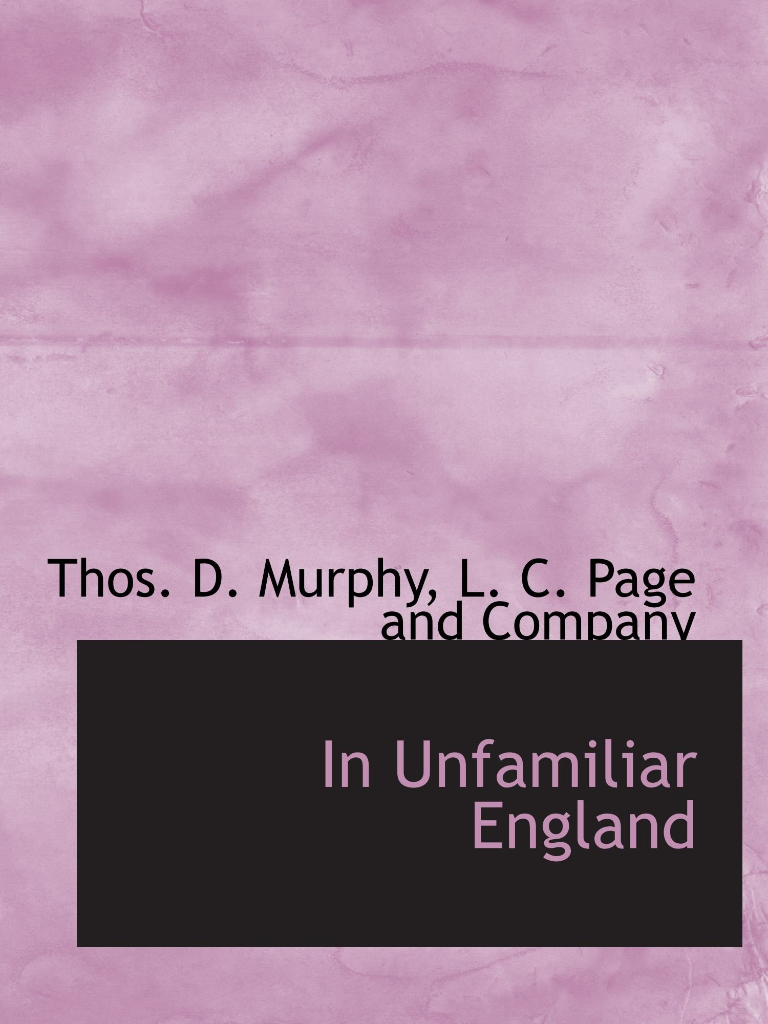 Download In Unfamiliar England PDF