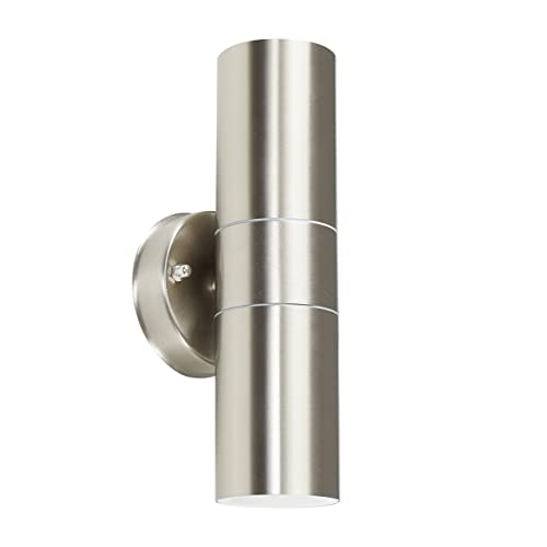 Modern Stainless Steel External Up/Down IP44 Rated Outdoor Security Wall Light