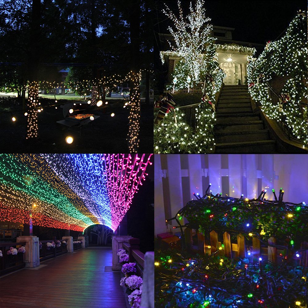 Outdoor Multi-Color 100 LED Fairy String Light Xmas Party Lighting Solar Powered eBay