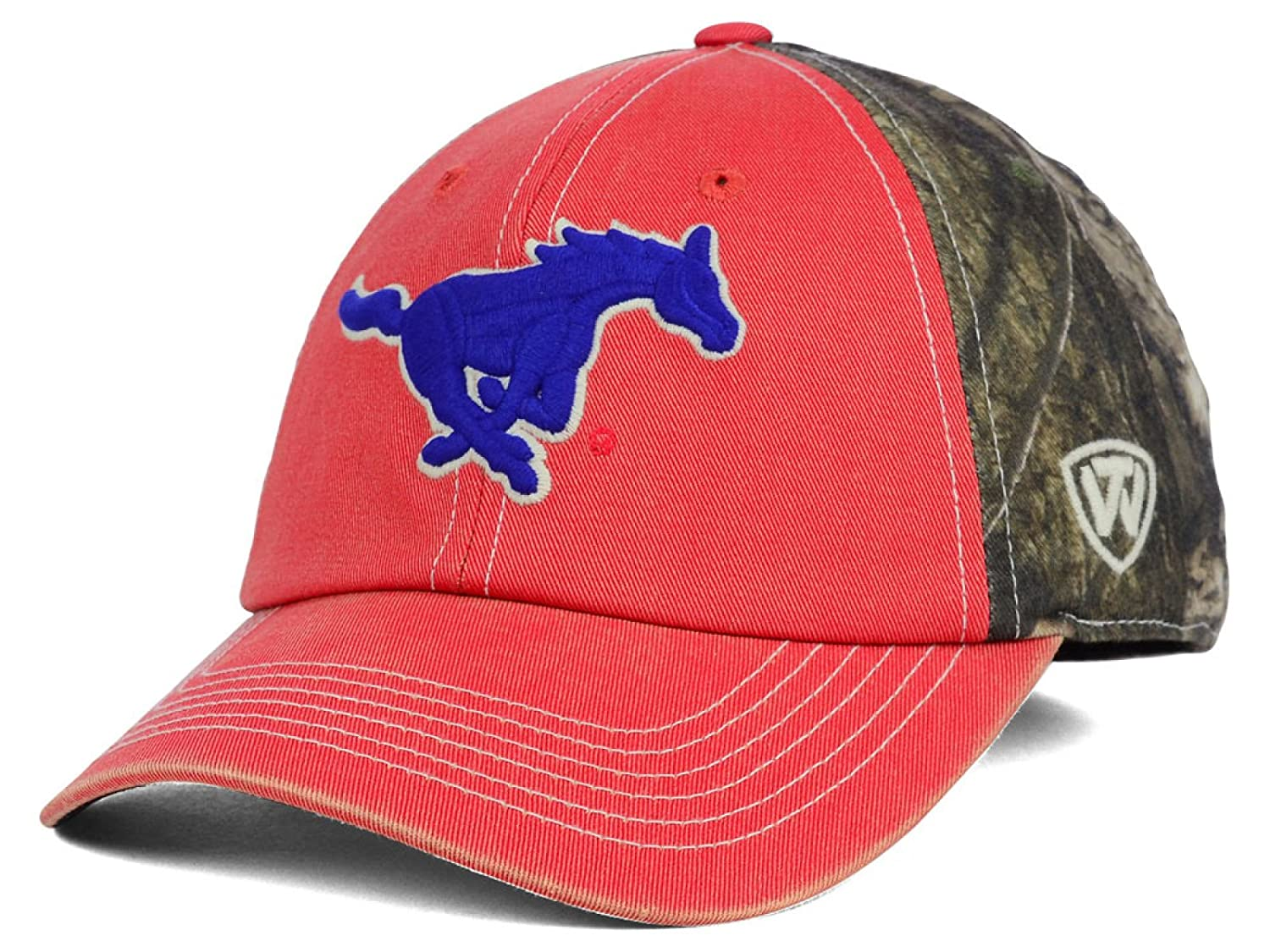 Southern Methodist Mustangs NCAA Top of the World Dirty camo Stretch Fitted Hatキャップ   B075RQKFPQ