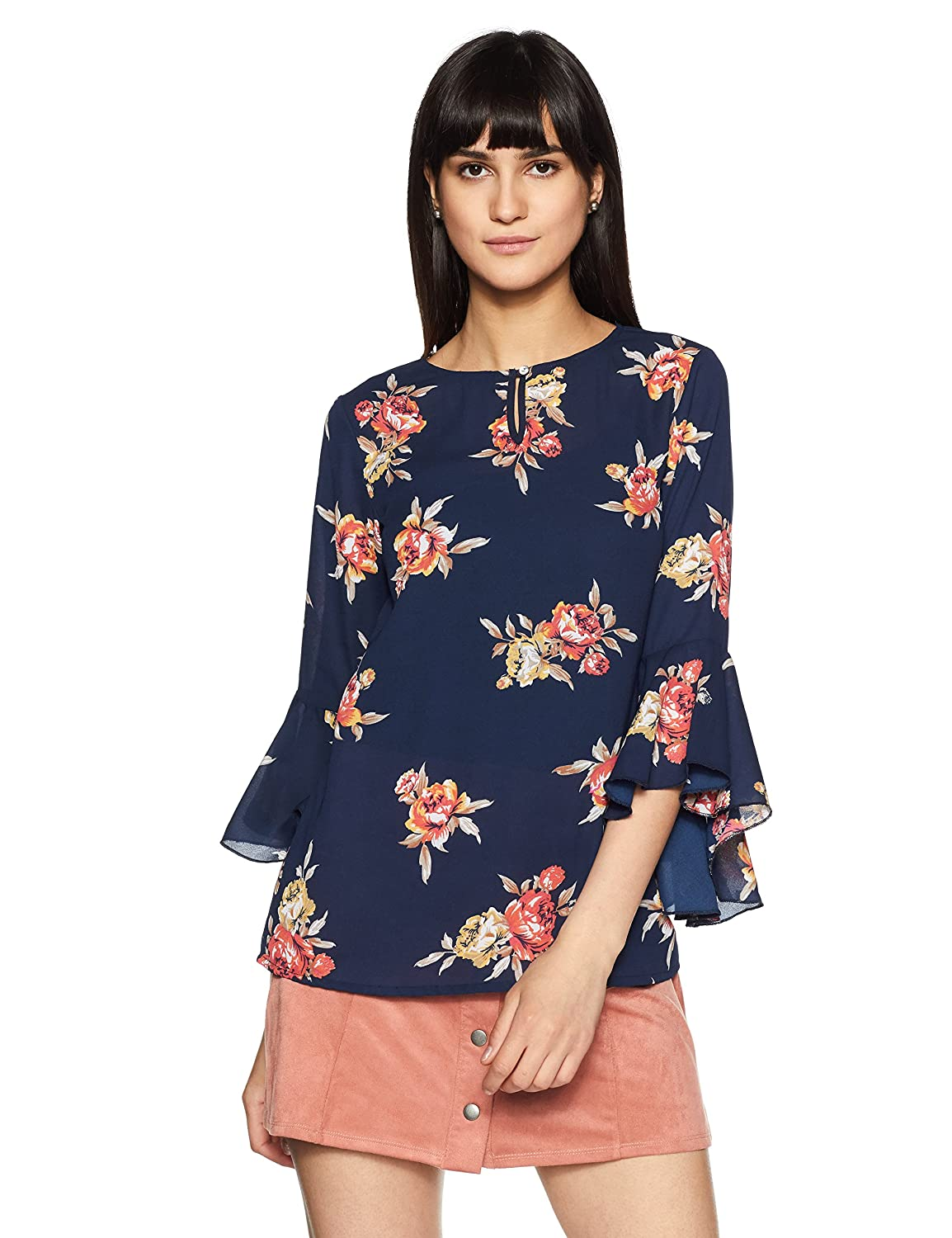 Styleville.in Women's Floral Regular Fit Top