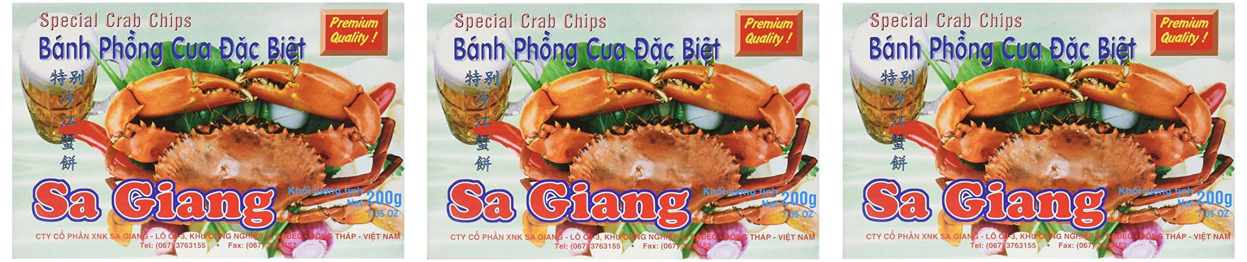 Giant Crab Flavored Shrimp Chips (3 X 200g Boxes)