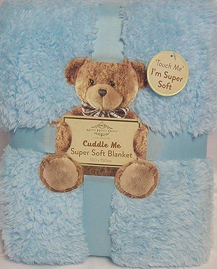 soft blanket texture. Cuddle Me Super Soft Sherpa Texture Blanket 100x150cm - BLUE Soft Blanket E