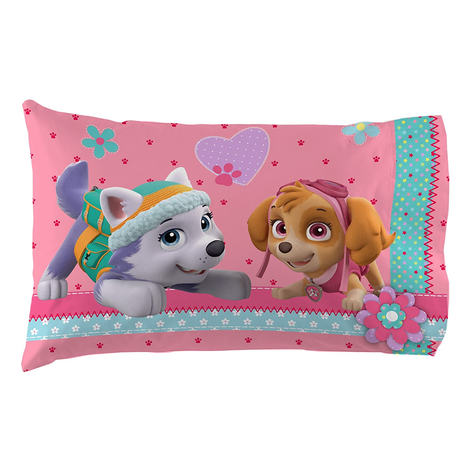 Nick Jr Paw Patrol Girls Best Pup Pals Twin Sheet Set