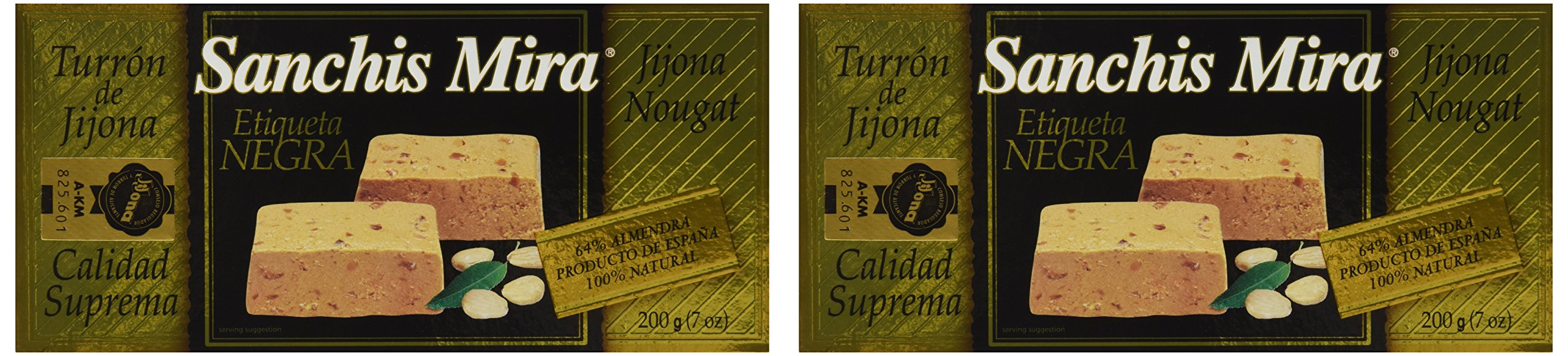 Sanchis Mira Turron Jijona 200 grs (7oz.) - Pack of 2
