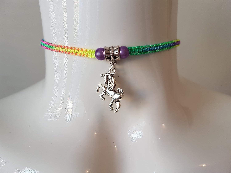 Rainbow unicorn choker