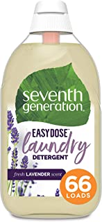 product image for Seventh Generation Laundry Detergent, Ultra Concentrated EasyDose, Fresh Lavender, 23 oz, 66 Loads (Packaging May Vary)