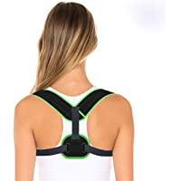 Posture Corrector for Men & Amdieu 2020 Upper Back Brace Clavicle Support - Comfortable Effective Adjustable Shoulder Support for Neck Pain Relief