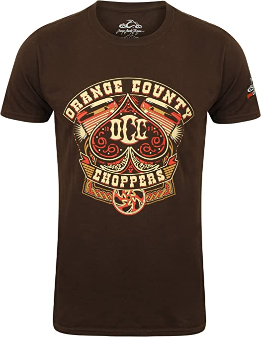 OCC Orange County Choppers T-Shirt Poker Run Brown