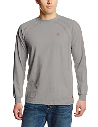28397fe3 Amazon.com: Ariat Men's Flame Resistant Long Sleeve Work Crew: Clothing