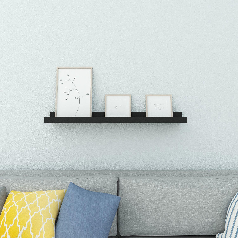 Homdox Industrial Floating Shelves Wall Mounted Metal Frame Urban Chic Display Wall Shelf, 3 Tier (White) Homfw003
