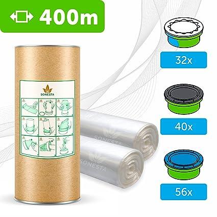 400 M - ECO Recarga compatible Sangenic Tommee Tippee | Angelcare para pañales | equivalente 24 cajitas Sangenic | 32 Angelcare | Producido en Europa ...